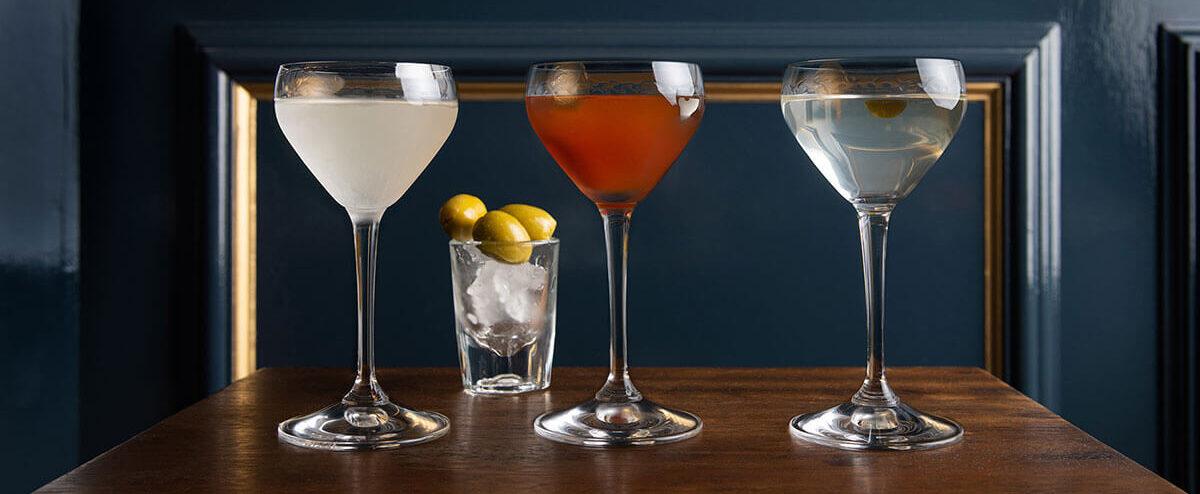Home page slider image showing cocktails