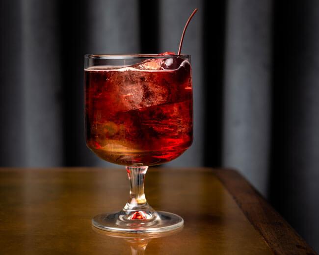 Sour cherry negroni